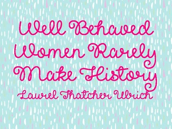 Printable Posters for Women's History Month