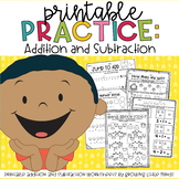 Printable Practice:  Addition and Subtraction- great for D