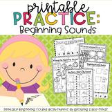 Printable Practice:  Beginning Sounds