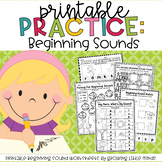 Printable Practice:  Beginning Sounds /great for Distance