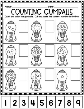 Printable Practice:  Counting and Numbers