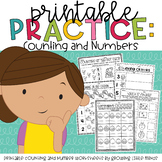 Printable Practice:  Counting and Numbers- great for Dista