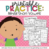 Printable Practice:  Medial Short Vowels- great for Distan