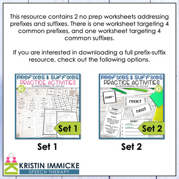 Free Printable Prefix & Suffix Worksheets