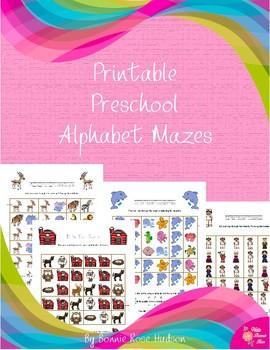 Printable Preschool Alphabet Mazes