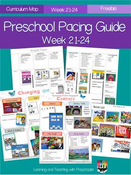 Printable Preschool Pacing Guide Week 21-24