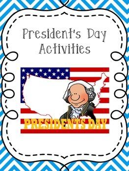 Presidents' Day Reading Activity Unit