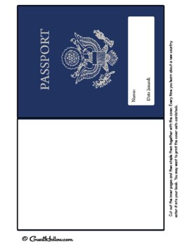 graphic about Passport Printable titled Printable Faux Pport