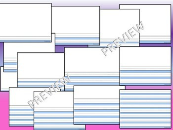 Printable Primary Lined Journal Writing Paper 13 differentiated blank sheets K 1