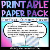 Printable Primary Lined Journal Writing Paper Packet K 1 Distance Learning