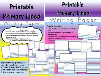 Printable Primary Lined Journal Writing Paper FREEBIE