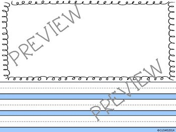 Printable Primary Writing Paper MEGA PACK 75 sheets Kindergarten 1st