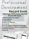 Printable Professional Development Record Book - PDP Goal