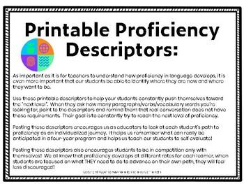 Printable Proficiency Descriptors