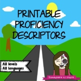Printable Proficiency Descriptors