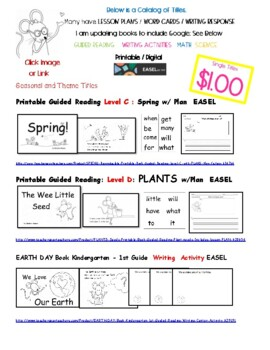 Printable Projectable Books: Kindergarten - 1st Grade 30 + ...