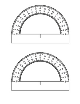 image regarding Protractor Printable Pdf named Printable Protractor