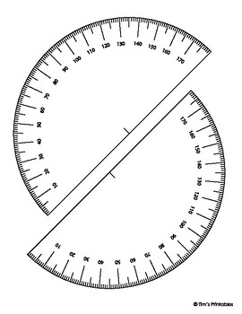 photo regarding Protractor Printable Pdf identified as Printable Protractor Template
