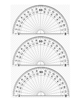 graphic relating to Protractor Printable Pdf called Printable Protractor Worksheets Academics Pay back Instructors