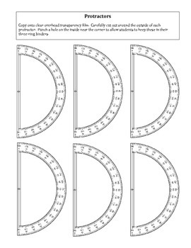 photograph regarding Free Printable Protractor named Geometry: No cost Printable Protractors Template
