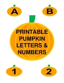 Printable Pumpkin Letters & Numbers