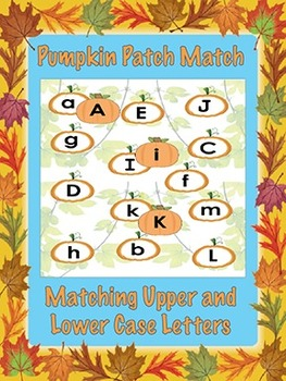 Printable Pumpkin Patch Match Game - Matching Upper and Lo