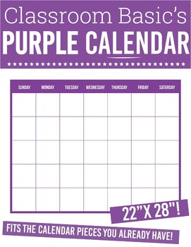 "Printable Purple Calendar (22""X28""!)"