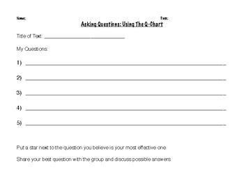 Printable Q-Chart Activity Worksheet FREEBIE