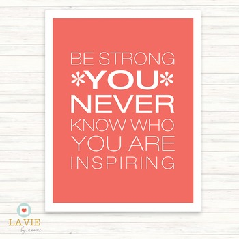 Printable Quote | Binder Cover | Printable Art | Be Strong . . .