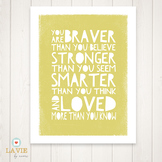 Printable Quote | Binder Cover | Printable Art | You Are B