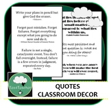 Printable Quotes for Classroom Decoration x 30 - Easy Display Decor Posters