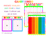 Printable Rainbow Candy Bingo Set 30 Cards and call sheets