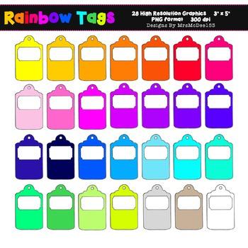 Printable Rainbow Label ClipArt - 28 Graphics