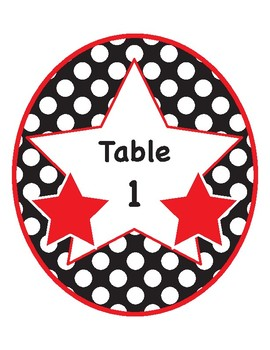 Incredible Printable Rainbow Polkadot Table Numbers Download Free Architecture Designs Rallybritishbridgeorg