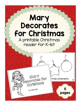 Printable Reader: Mary Decorates for Christmas