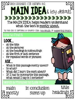 Printable Reading Comprehension Anchor Charts {GREEN}