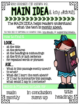 Printable Reading Comprehension Anchor Charts {GREEN}