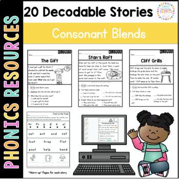 Printable Decodable Passages: Consonant Blends Stories