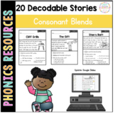 Printable Decodable Passages: Consonant Blends Stories