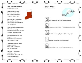 Printable Reading Poetry Poem Book Christmas Winter Poems and Poetic Devices