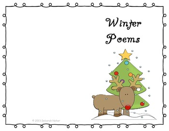 image relating to Christmas Carol Lyrics Printable Booklet called Printable Looking at Poetry Poem E-book Xmas Wintertime Poems and Poetic Techniques