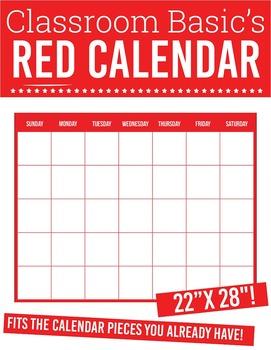 "Printable Red Calendar (22""X28""!)"