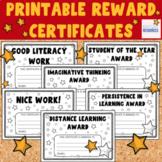 Printable Reward Certificates - Star Rewards