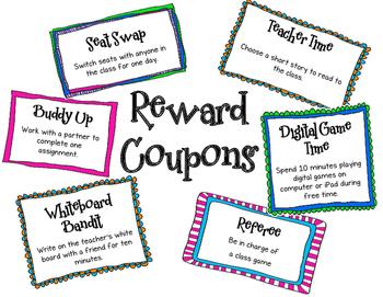 Printable Reward Coupons