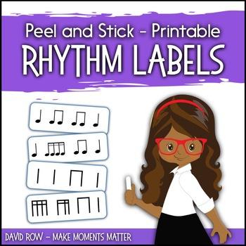 Printable Rhythm Labels for the Music Classroom - Custom Rhythm Stickers