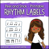 Printable Rhythm Labels for the Music Classroom - Custom R