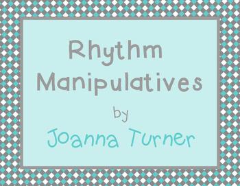 Printable Rhythm Manipulatives (simple meter)
