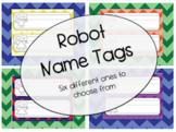 Printable Robot Name Tags
