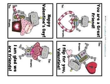 photo relating to Printable Robot identified as Printable Robotic Valentines/Valentines for Youngsters/Quality K, 1, 2 by way of Prepare K toward 2