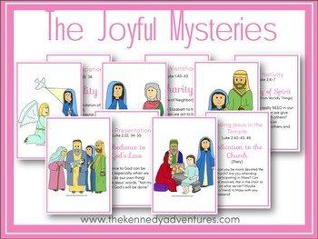 Printable Rosary Cards for Catholic Kids